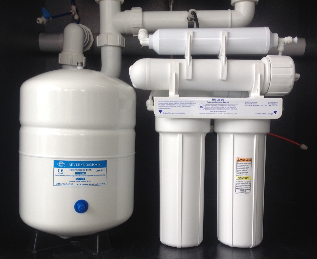 Undersink Reverse Osmosis 4 Stage Pentec Kit Bore Water